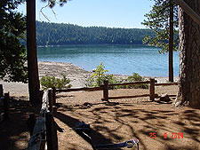 View of Jenkinson Lake from our site.